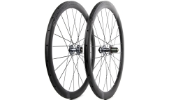 Pair of American Classic Carbon 46 2016 Wheels - Disc brake - Carbon - Tubular