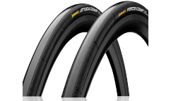 Tubular Continental Grand Prix Attack & Force Comp (Lote 2 tubulares) - Black Chili - Vectran Breaker