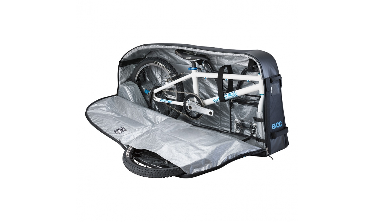 Housse de transport evoc bmx travel bag 200l pneus vtt for Housse vtt transport