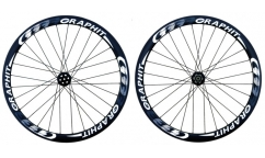 Pair of Graphit'Sport 38 Wheels - Disc brake - Carbon - Tubular