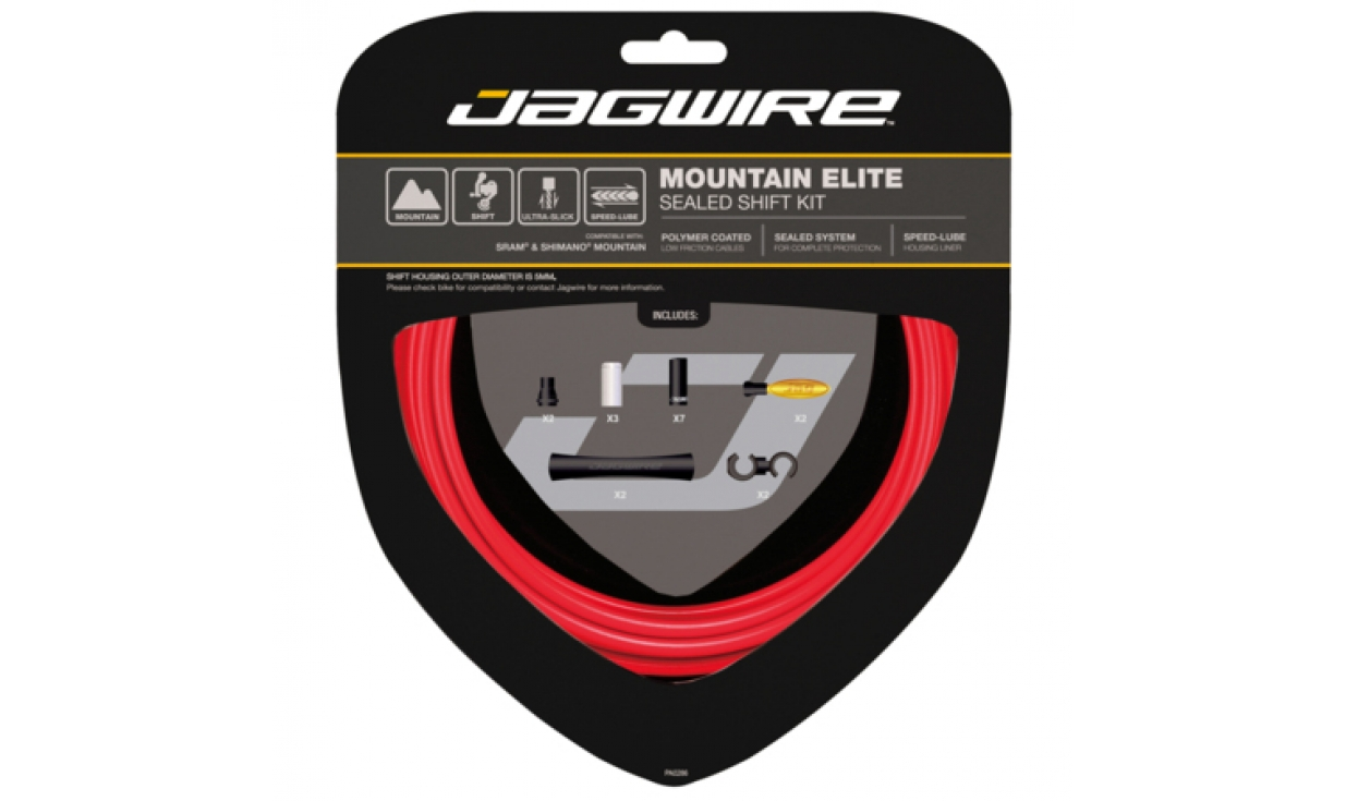 jagwire mountain elite shift kit polymer cables xex. Black Bedroom Furniture Sets. Home Design Ideas
