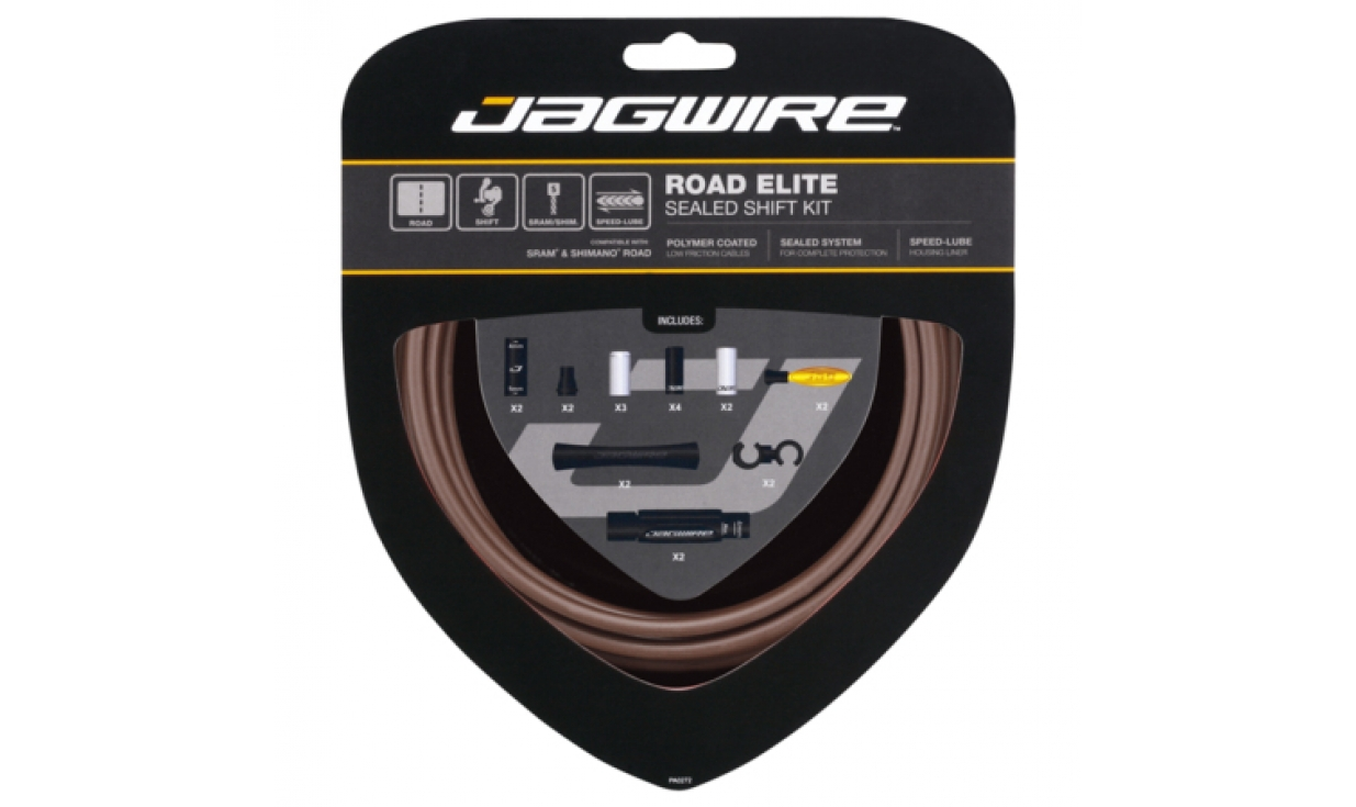 jagwire road elite sealed shift kit polymer cables lgx. Black Bedroom Furniture Sets. Home Design Ideas
