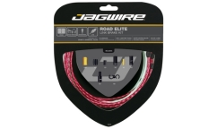 Jagwire Road Elite Link Brake Kit - Polished Cables - Aluminium Links Housing