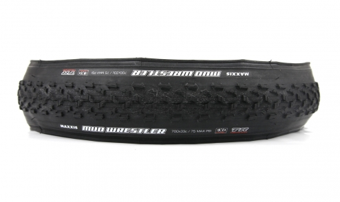 Pneu Maxxis Mud Wrestler- EXO Protection - Dual 62a/60a - Tubeless Ready - 60 tpi  assiette