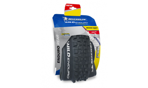 Pneu Michelin Wild Enduro Rear Plus Gum-X3D Gravity Shield Pinch Protection Tubeless Ready packaging