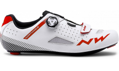 Zapatillas Carretera Northwave Core Plus 2019 - Blanco/Rojo