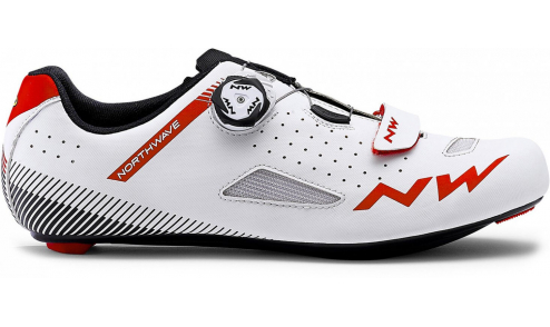 Chaussures Route Northwave Core Plus 2019 Blanc Rouge