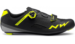 Zapatillas Carretera Northwave Core Plus 2019 - Negro/Amarillo fluo