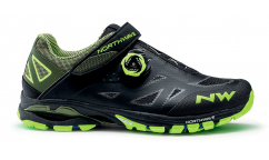 Zapatillas MTB Northwave Spider Plus 2 2020 - Negro-Armarillo Fluor