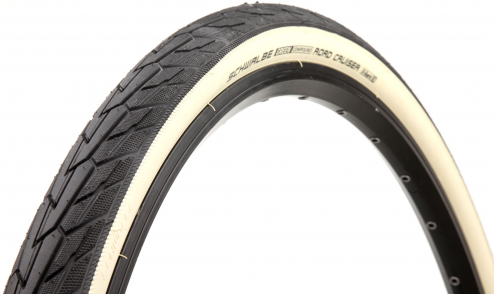 Pneu Schwalbe Road Cruiser - Green Compound - TwinSkin - K-Guard noir blanc