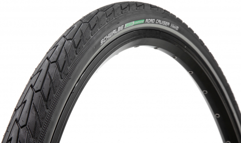 Pneu Schwalbe Road Cruiser - Green Compound - TwinSkin - K-Guard noir reflex