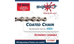 KMC 10V Chain coated with Squirt Lube X10 NP - with quick-release chain link
