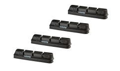 SwissStop Race Pro Brake Pads (2 pairs) - Original Black - For Aluminium Rims
