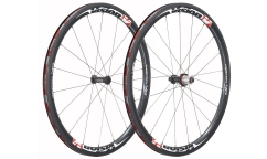 Pair of Vision Metron 40 Wheels - Carbon - Tubetype