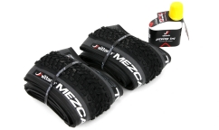 Set of 2 Vittoria Mezcal Tyres - 4C Graphene - Tubeless Ready + Pit Stop TNT 250ml