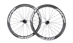 Pair of Zipp 302 Disc Wheels - Carbon - Tubetype